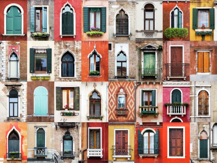 Окна Венеции, Италия.