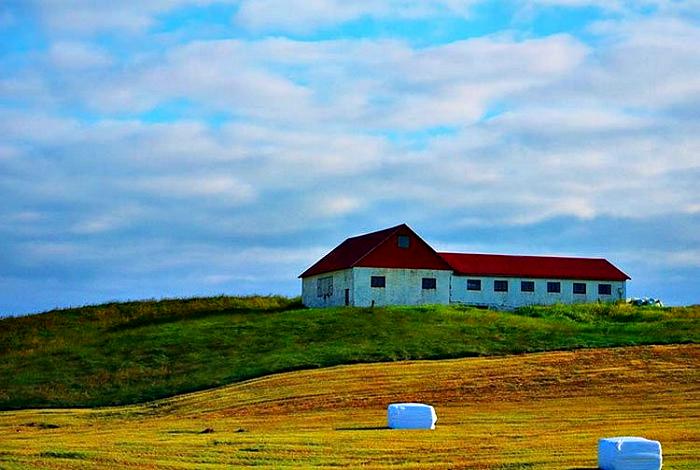 Большой жилой дом в Исландии.