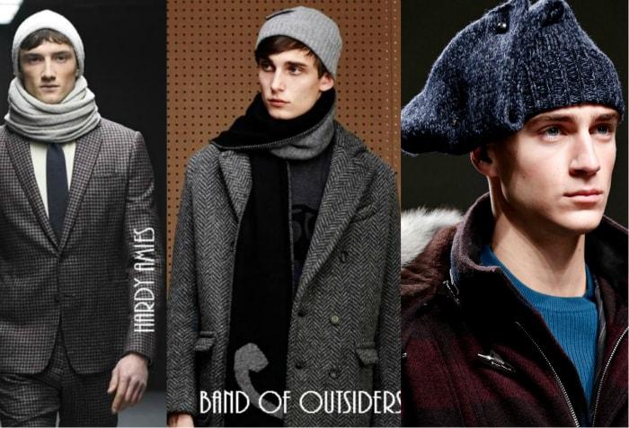 Трикотажные мужские шапки.