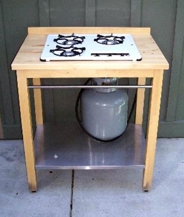 Самодельная газовая печка.