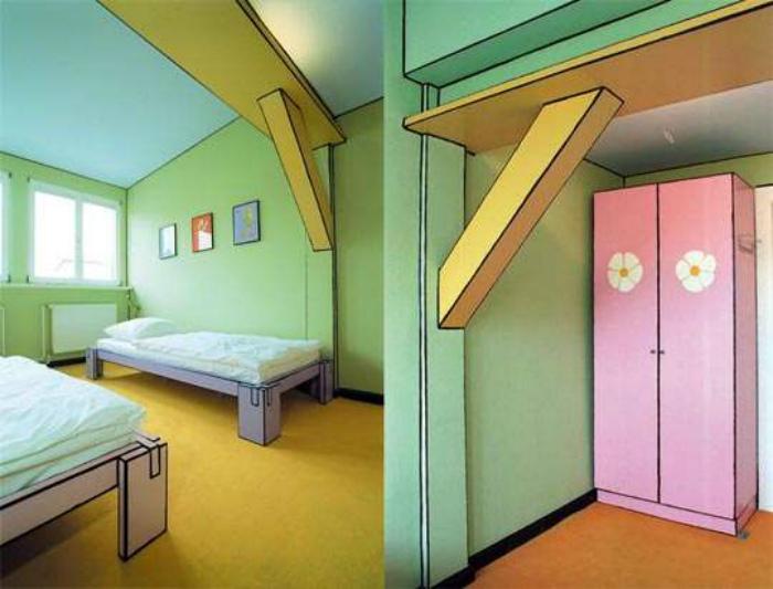 «Нарисованная» комната. | Фото: Trend Hunter.