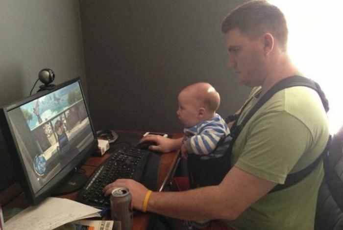 Некоторые увлечения переходят от отца к сыну.