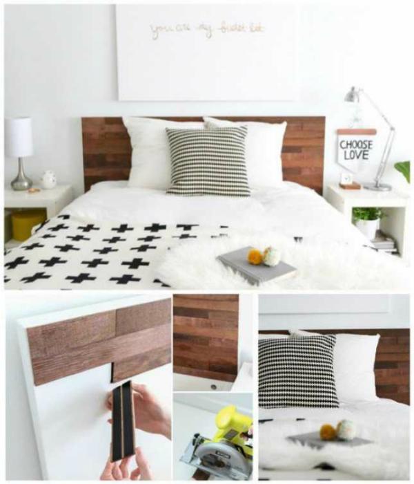 Декор изголовья кровати.