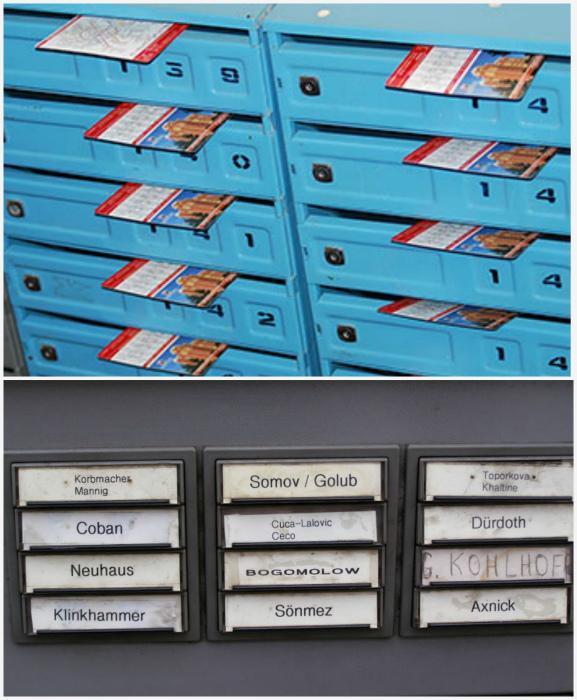 Фамилии на почтовых ящиках. | Фото: Medium, Экспертный центр электронного государства.