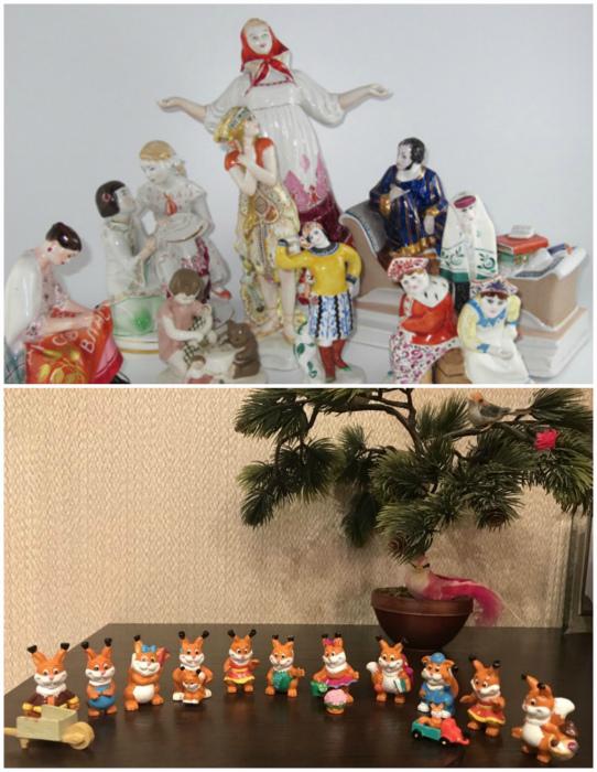 Дешевые статуэтки и предметы декора.