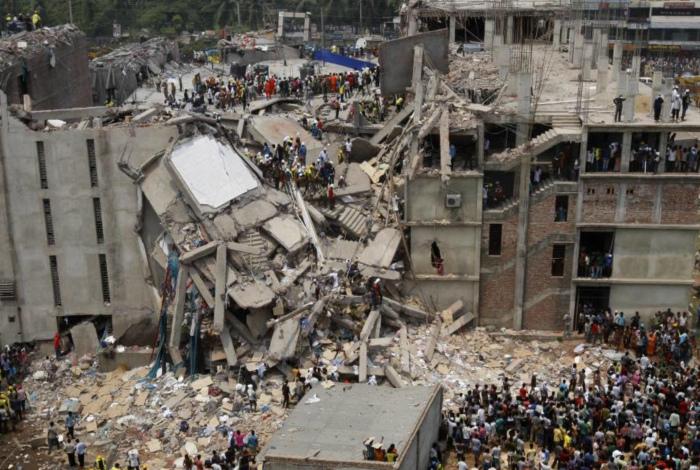 Текстильная фабрика Rana Plaza,  Савар, Бангладеш.