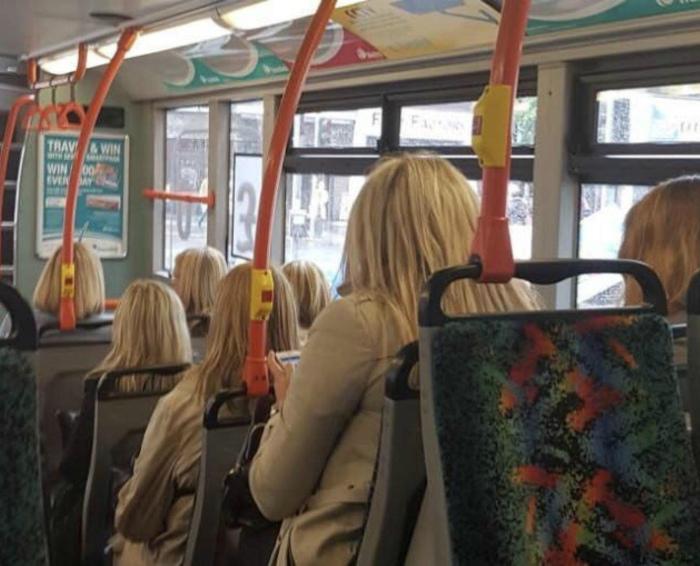 Автобус для блондинок. | Фото: Reddit.