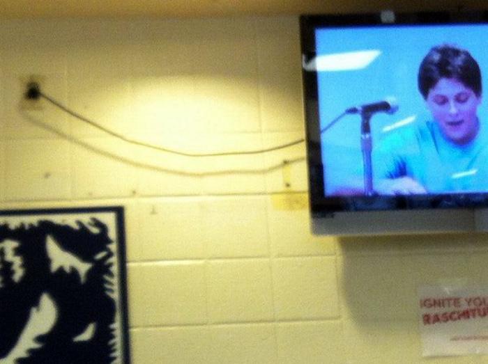 Подключение из телевизора.