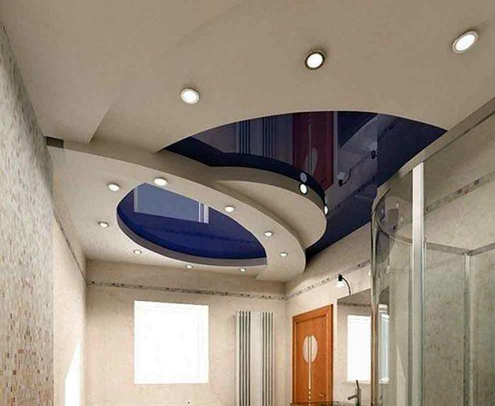 Многоуровневый потолок из гипсокартона. | Фото: Универсальная барахолка.
