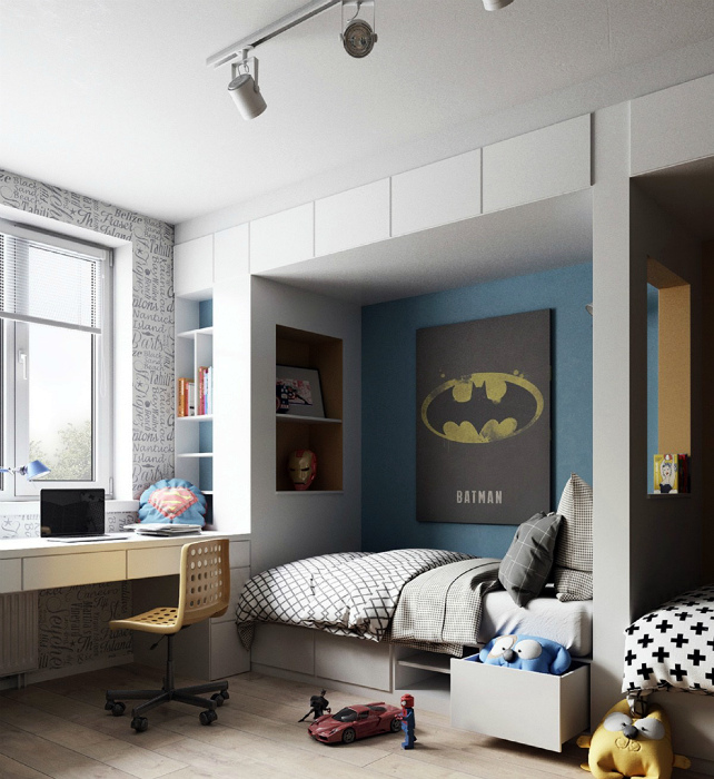 Интерьер комнаты для мальчика.