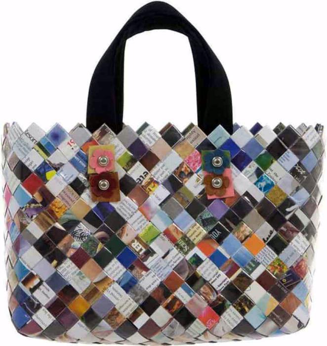 Плетеная сумочка.