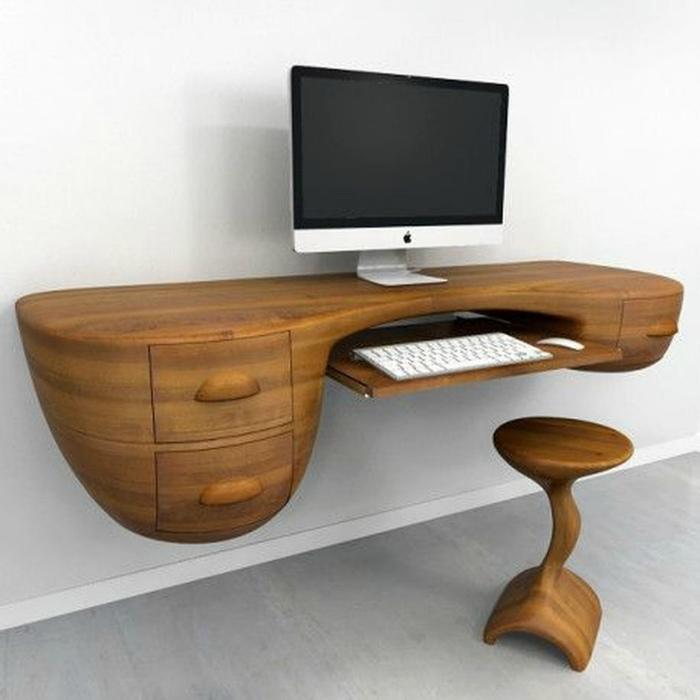 Футуристический письменный стол. | Фото: Picdeer.