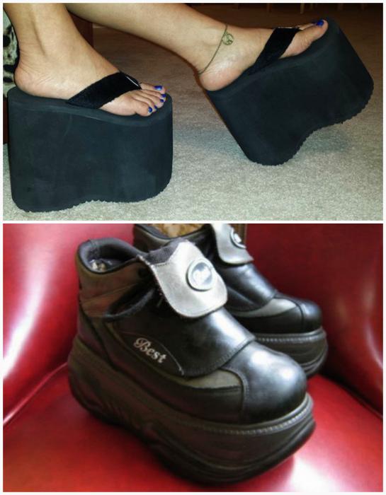 Обувь на платформе.