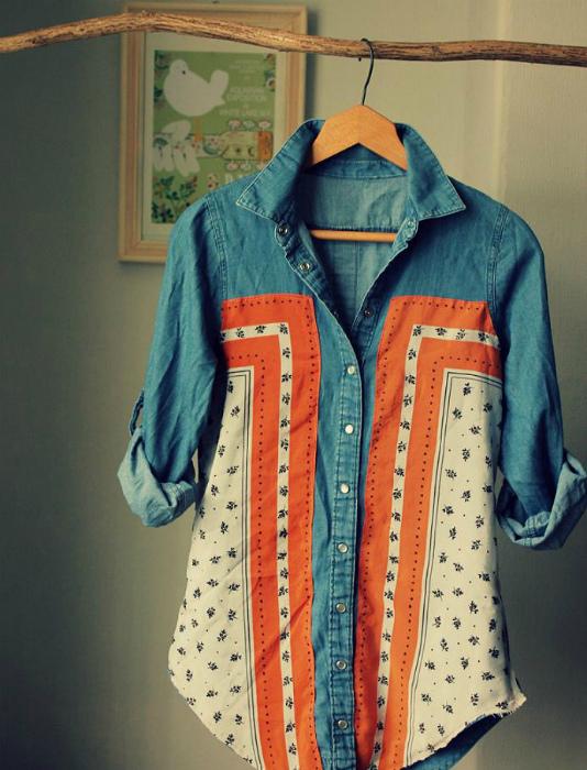 Преображение старой рубашки.