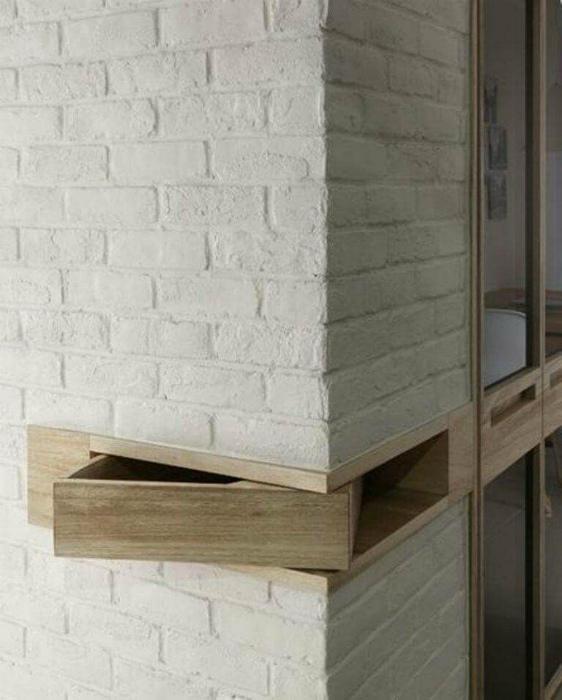 Ящик в стене. | Фото: Pinterest.