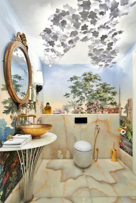 Элегантный интерьер туалета. | Фото: Вкурсе кровати.