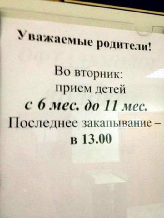 График детских закапываний на Novate.ru. | Фото: Данкор онлайн.