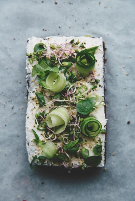 Овощной торт-сэндвич.