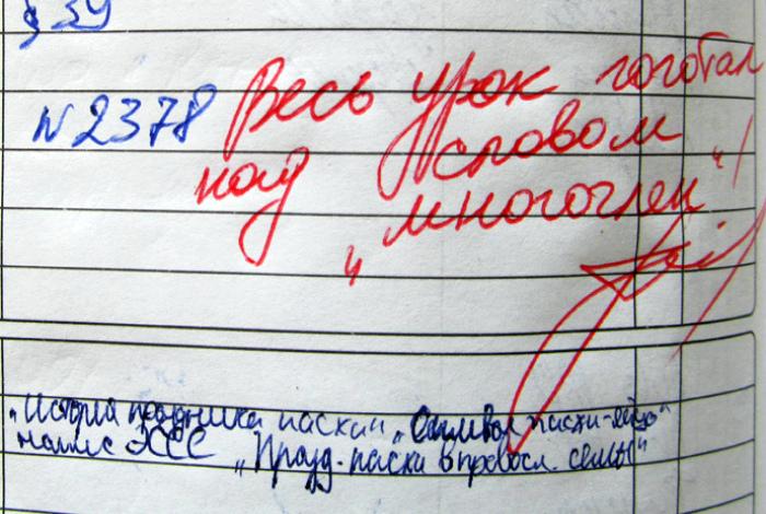 Итоги года в потешных заметках из дневников школьников.