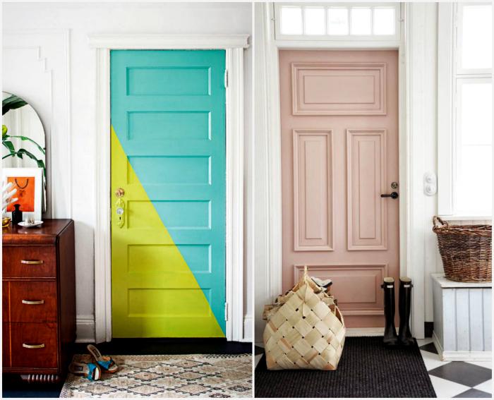 Идеи покраски межкомнатных дверей.
