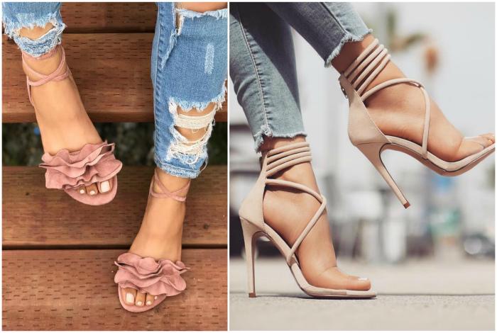 Модные босоножки и сандалии.