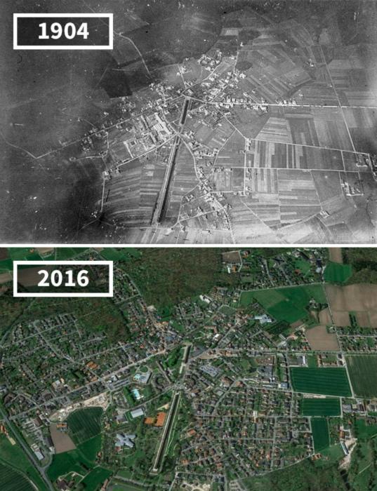Город Оснабрюк с высоты, 1904 - 2016.