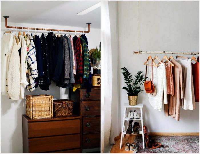 Оригинальные подвесные рейлинги. | Фото: ITW01, Apartment Therapy.