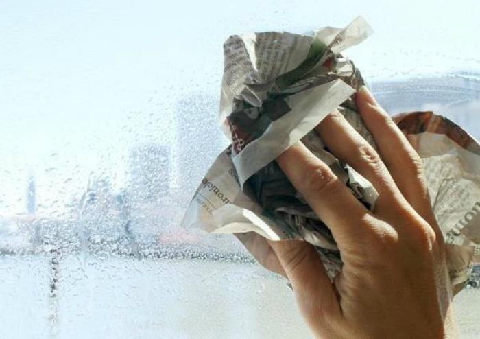 Газеты для мытья окон.