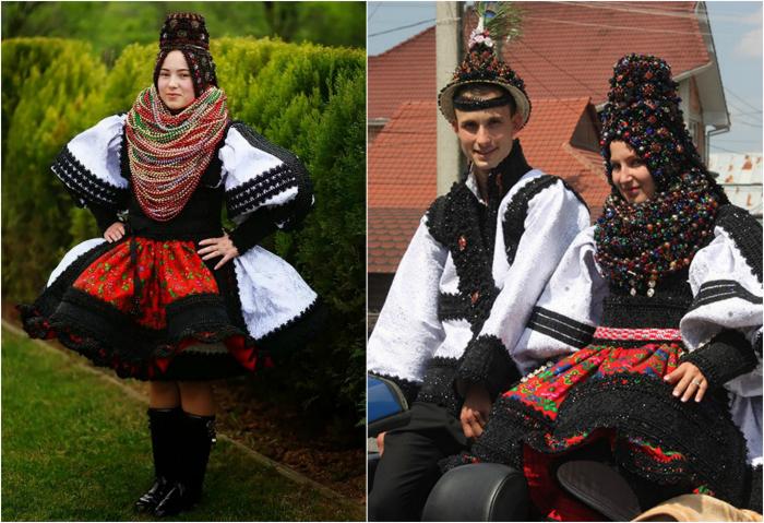 Традиционная свадьба в Румынии.