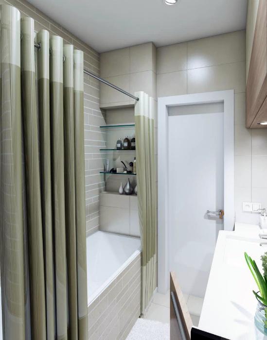 Красивая шторка в ванную.| Фото: Яндекс.