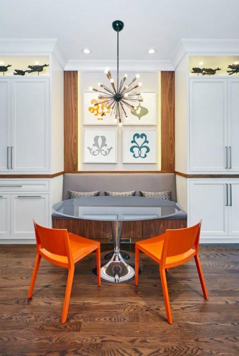 Практичный дизайн кухонного уголка.