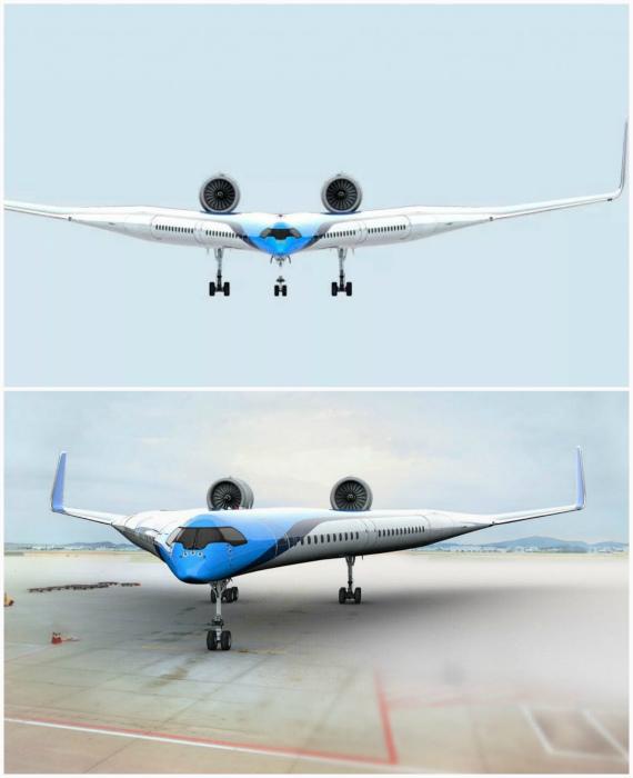 V-образный самолет. | Фото: Pinterest.