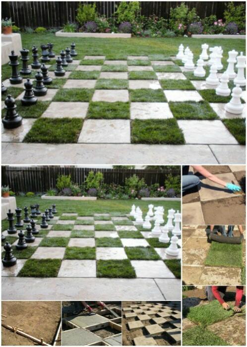 Самодельная шахматная доска.