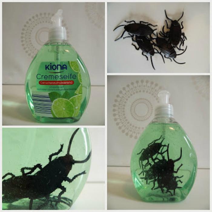 Жидкое мыло с жуками.