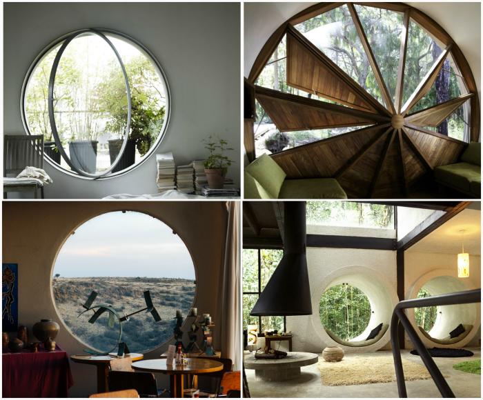 Оригинальные круглые окна.