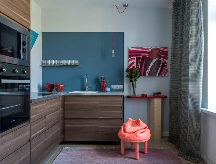 Кухня в стиле эклектика. | Фото: Уют в доме.Ру.