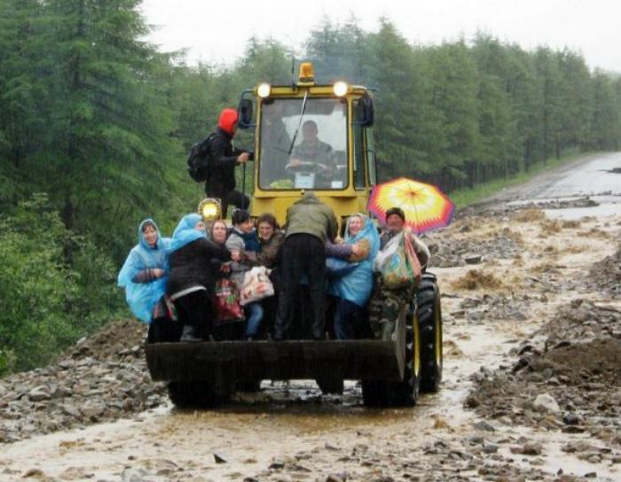 Сельское такси.