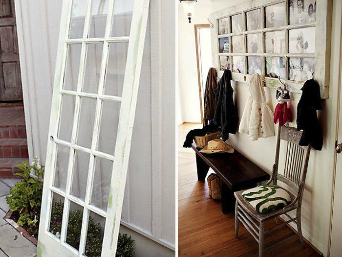 Необычное использование двери со стеклянными окошками. | Фото: Домоседы.