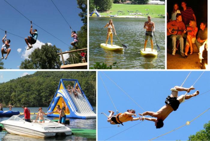 Лагерь для любителей активного отдыха, в котором практикуют много водных видов спорта, а также альпинизм и кемпинг.