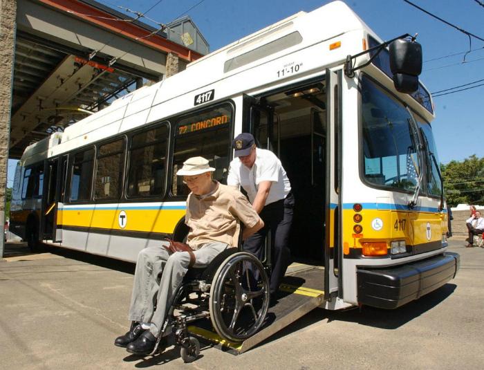 Наклоняющиеся автобусы для инвалидов.
