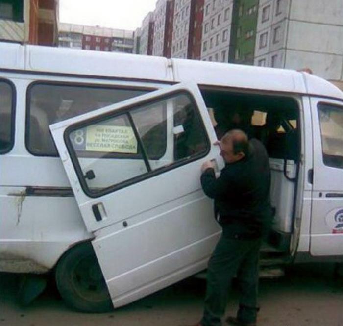 Пассажир перестарался.