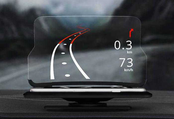 Компактный автомобильный проектор.