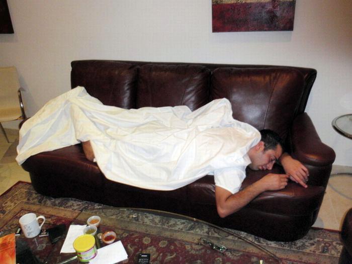 Не используйте диван в качестве места для сна.
