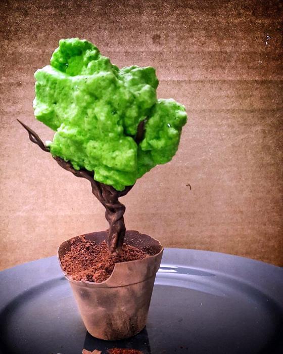 Шоколадное дерево с кремом.