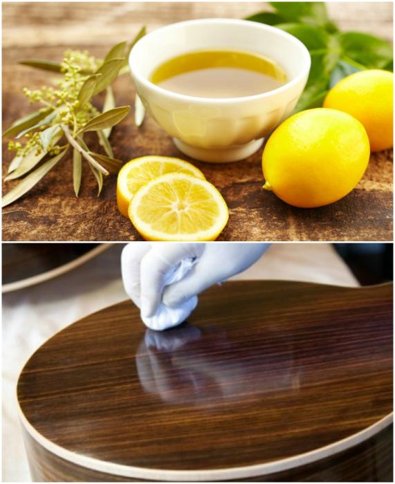 Использование оливкового масла и лимонного сока в быту.
