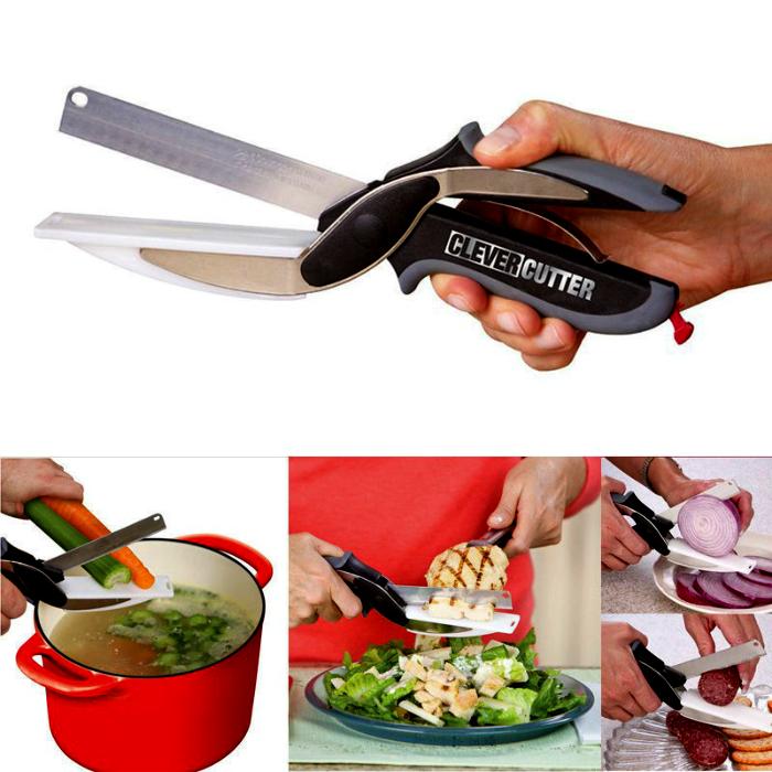 2 в 1: нож и разделочная доска.