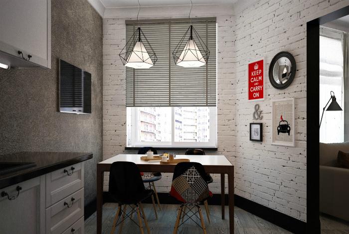 Комбинация в стиле лофт.   Фото: house-biz.ru.