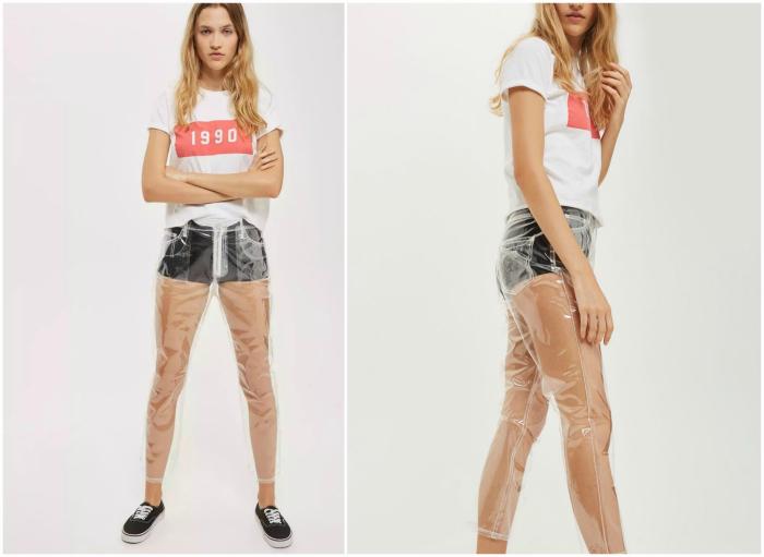 Пластиковые джинсы от Topshop.