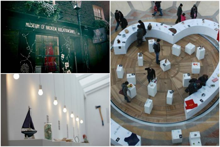 Музей разбитых сердец в Загребе, Хорватия.