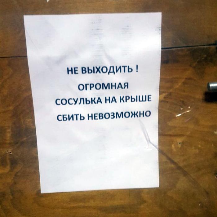 Заложники большой сосульки. | Фото: Загоны.ру.